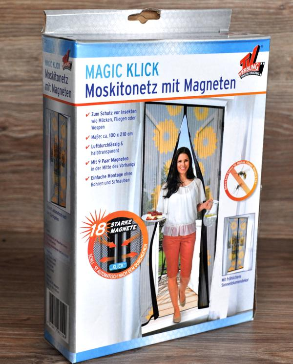 moskitonetz klick magnetverschluss von magic klick insekten fliegen schutz ebay. Black Bedroom Furniture Sets. Home Design Ideas